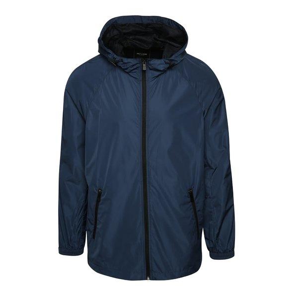 Jachetă albastră ONLY & SONS Navarro cu glugă de la ONLY & SONS in categoria Geci, paltoane, jachete
