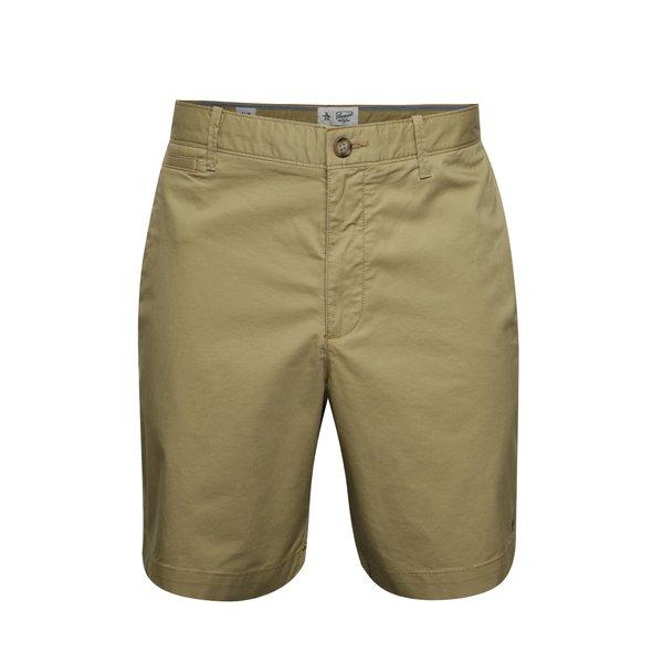 Pantaloni chino scurti bej cu logo brodat - Original Penguin P55 8