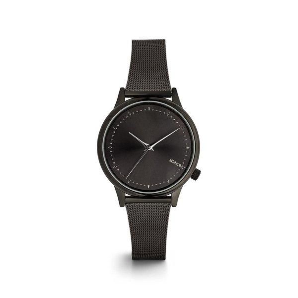 Ceas negru cu bratara metalica pentru femei Komono Estelle Royale