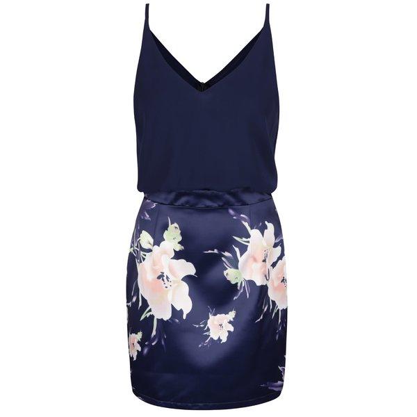 Rochie mini bleumarin Ax Paris cu aspect 2în1 și imprimeu floral de la AX Paris in categoria rochii casual