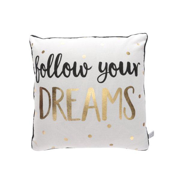 Pernă bej Sass&Belle Dreams cu imprimeu text de la Sass & Belle in categoria Pentru dormitor și camera de zi