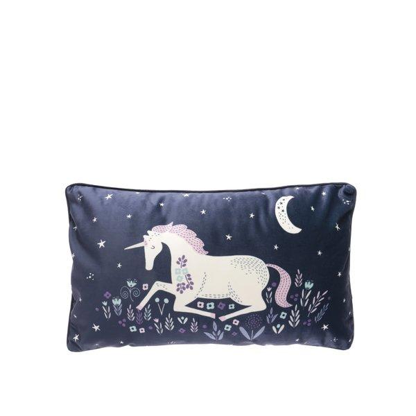 Pernă bleumarin Sass&Belle cu unicorn