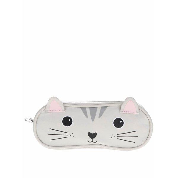Penar gri Sass&Belle Nori Cat în formă de pisică