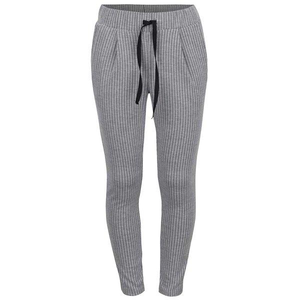 Pantaloni sport gri LIMITED by name it Jane cu model în dungi verticale pentru fete