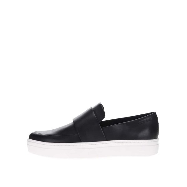 Mocasini negri Vagabond Camille din piele cu platformă de la Vagabond in categoria pantofi și mocasini