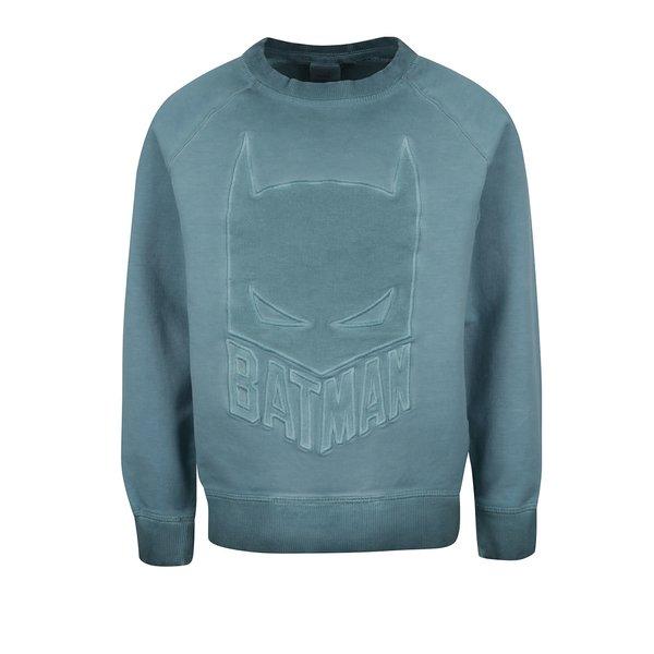 Bluză turcoaz închis name it Btaman cu print în relief pentru băieți de la name it in categoria Pulovere, hanorace