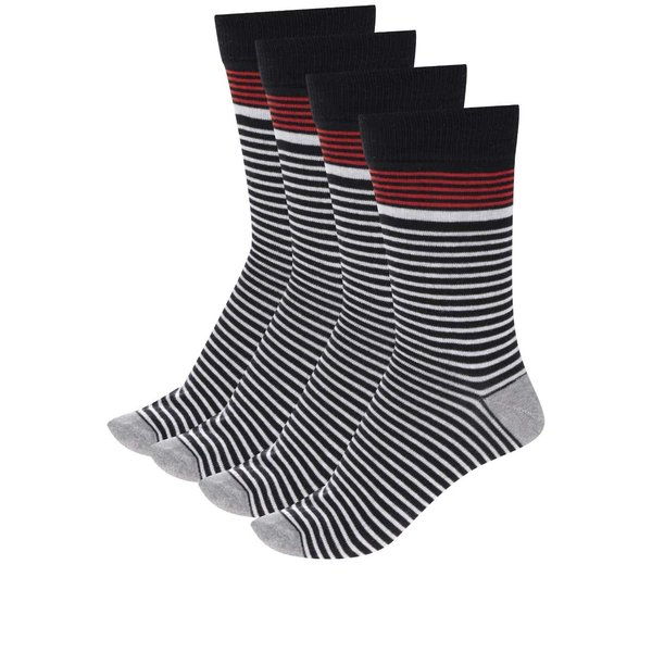 Set de 4 perechi de șosete Jack & Jones Stripe cu model în dungi