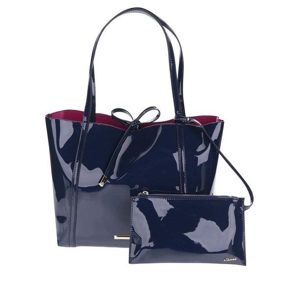 Set bleumarin cu geantă shopper&geantă pentru cosmetice Gionni Imaan