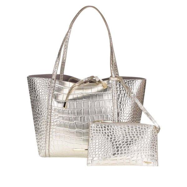 Set auriu cu geantă shopper&geantă pentru cosmetice Gionni Imaan