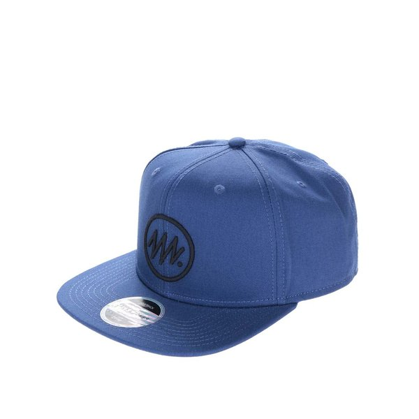 Șapcă snapback albastră Jack & Jones Circle din bumbac cu logo în relief