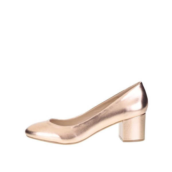 Pantofi cu toc Dorothy Perkins cu aspect metalic de la Dorothy Perkins in categoria pantofi cu toc
