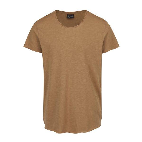 Tricou maro melanj Jack & Jones Orbas din bumbac de la Jack & Jones in categoria Tricouri și bluze