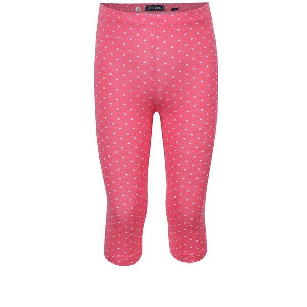 Colanți trei sferturi roz Blue Seven cu model cu buline
