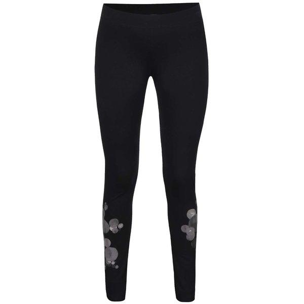 Colanți negri Desigual Lola cu detalii de la Desigual in categoria Blugi, pantaloni, colanți