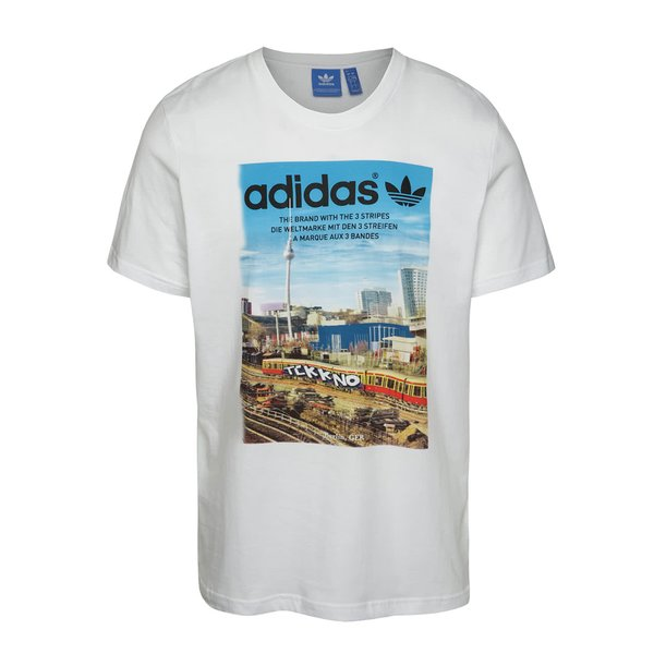 Tricou alb adidas Originals Spree Vollgas cu print de la adidas Originals in categoria tricouri