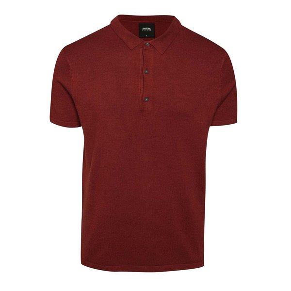 Tricou polo roșu burgundy Burton Menswear London