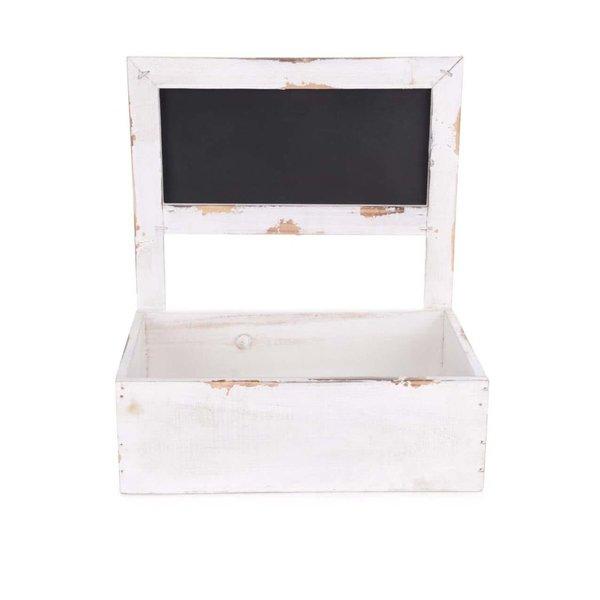 Cutie albă din lemn pentru flori Dakls de la Dakls in categoria Pentru dormitor și camera de zi