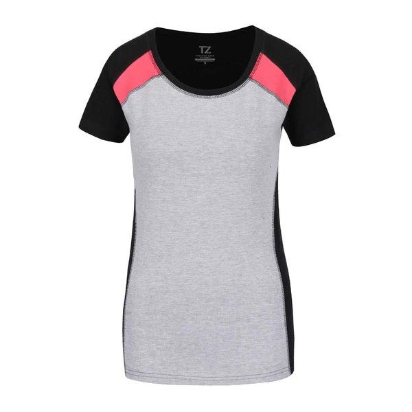 Tricou gri melanj & negru pentru femei M&Co