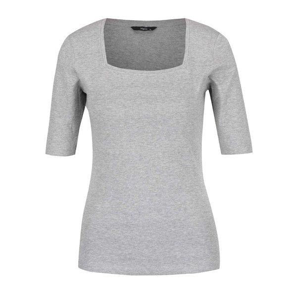 Bluză gri M&Co cu croi mulat şi decolteu pătrat de la M&Co in categoria bluze