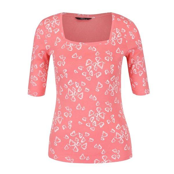 Bluză roşu corai M&Co cu croi mulat şi decolteu pătrat de la M&Co in categoria bluze