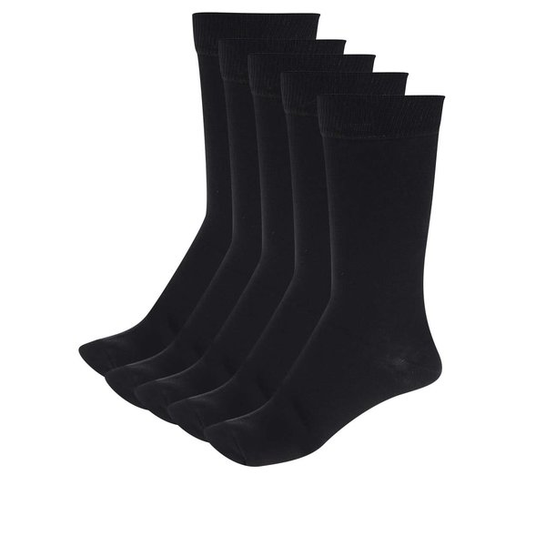 Set 5 perechi șosete negre M&Co
