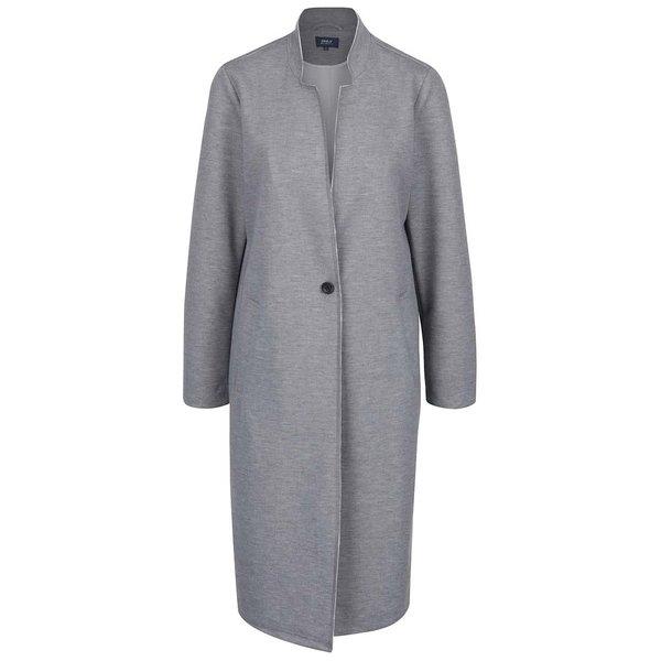 Palton subțire gri melanj ONLY Sue cu guler cu decupaje