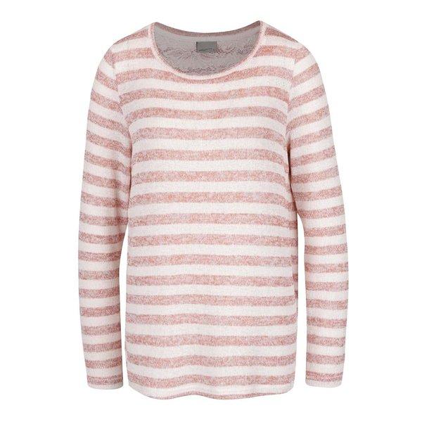 Bluză roz pal cu dungi VERO MODA Almond de la VERO MODA in categoria Pulovere și hanorace