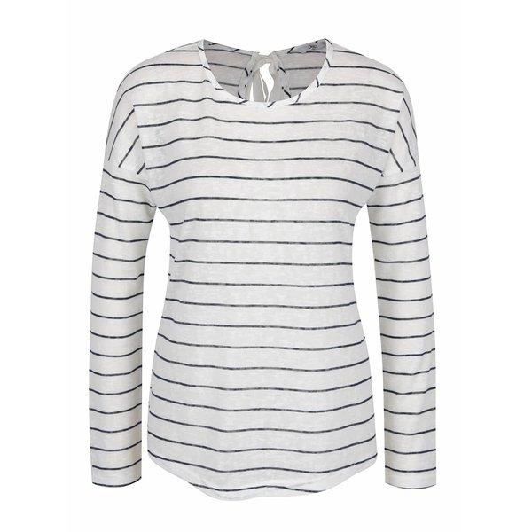 Bluză alb&bleumarin ONLYMarina cu model în dungi