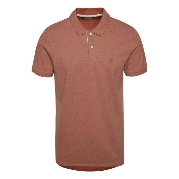Tricou polo Selected Homme Aro roșu