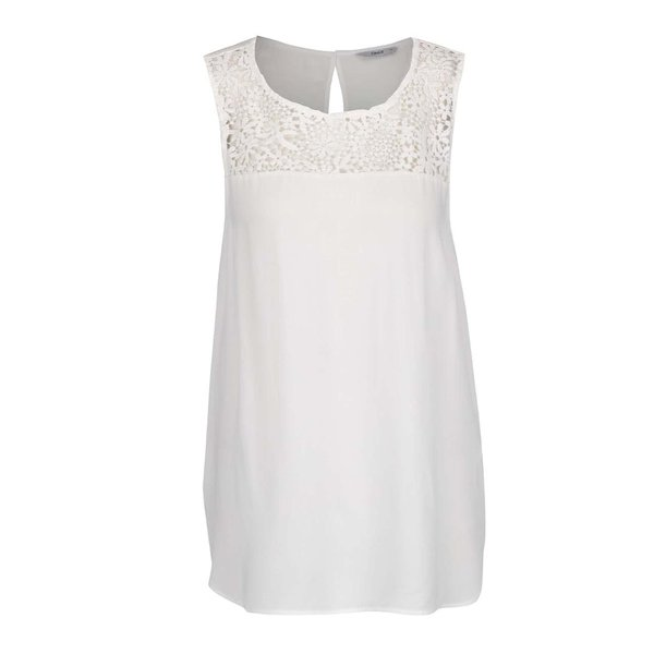 Top crem ONLY New Wonder cu inserție macrame