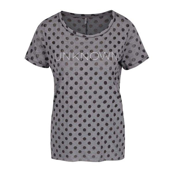 Tricou gri&negru ONLY Mira cu buline de la ONLY in categoria tricouri