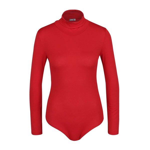 Body roșu ZOOT cu mâneci lungi și guler înalt de la ZOOT in categoria Topuri, tricouri, body-uri
