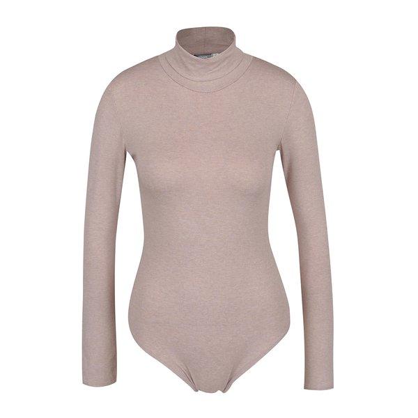 Body bej ZOOT cu mâneci lungi și guler înalt de la ZOOT in categoria Topuri, tricouri, body-uri