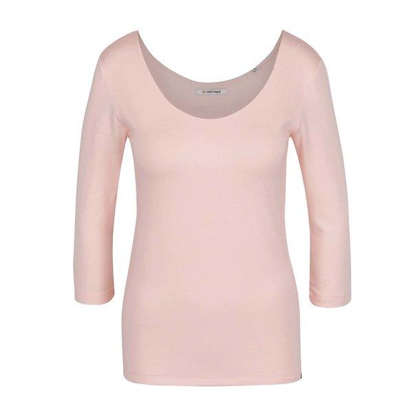 Bluză roz deschis Rich & Royal cu mâneci trei sferturi de la Rich & Royal in categoria Topuri, tricouri, body-uri