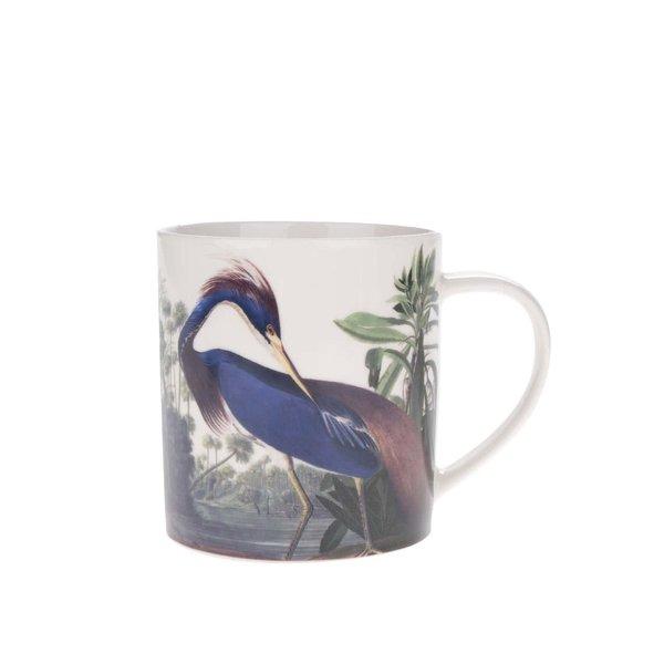 Cană crem Magpie Birds cu imprimeu