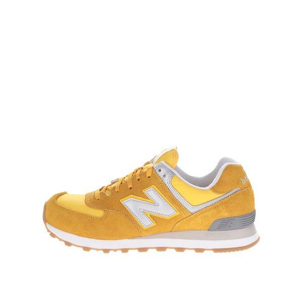 Pantofi sport galbeni New Balance 574 Classic de la New Balance in categoria pantofi sport și teniși