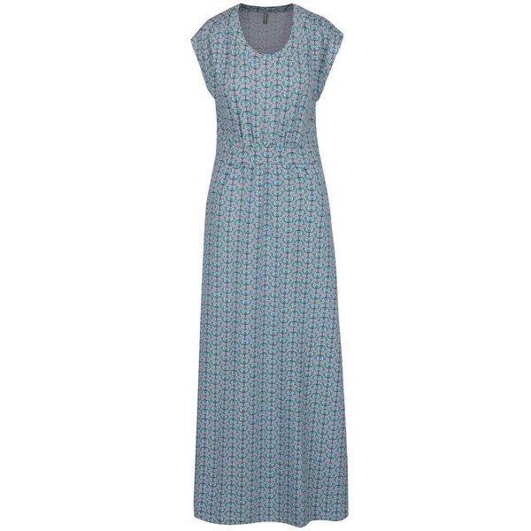 Rochie lungă gri & albastru Tranquillo Denise cu model floral de la Tranquillo in categoria rochii de vară și de plajă