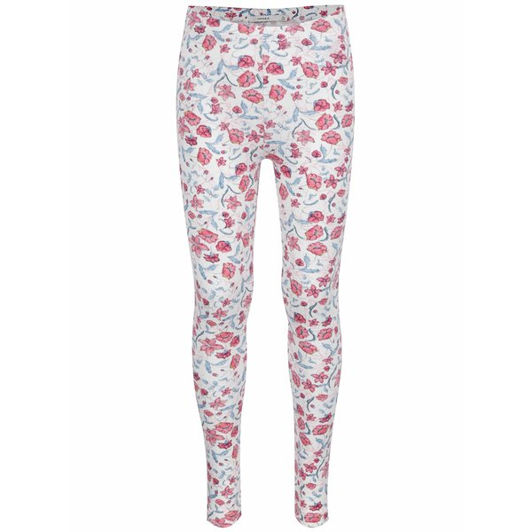 Colanți alb & roz name it Halo cu model floral