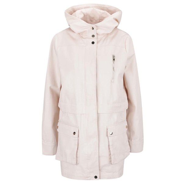 Jahetă Parka Miss Selfridge roz deschis