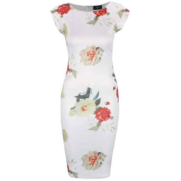 Rochie crem AX Paris cu imprimeu floral de la AX Paris in categoria rochii casual