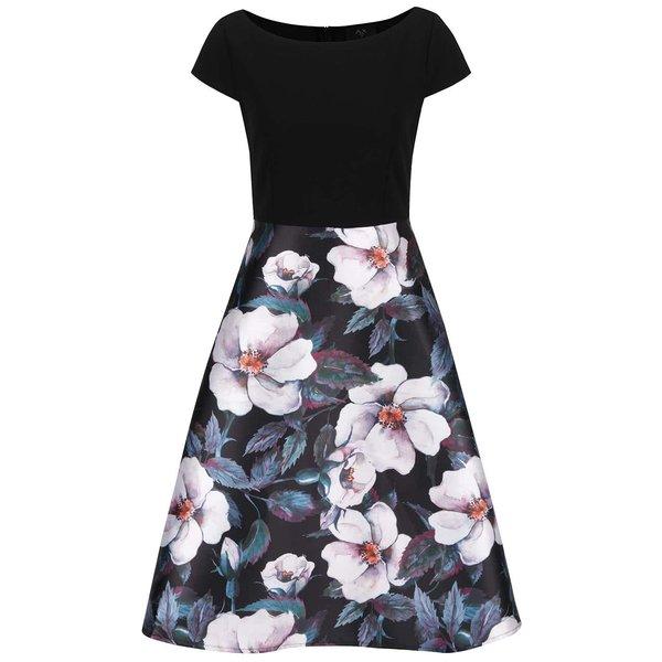 Rochie neagră cu imprimeu floral AX Paris de la AX Paris in categoria rochii casual