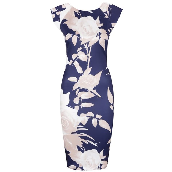 Rochie bodycon albastră cu flori – AX Paris de la AX Paris in categoria rochii casual