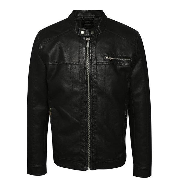 Jachetă neagră ONLY & SONS Nicky din piele ecologică de la ONLY & SONS in categoria Geci, paltoane, jachete