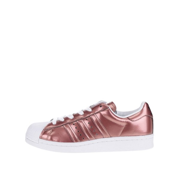 Pantofi sport roz metalic pentru femei adidas Originals Superstar