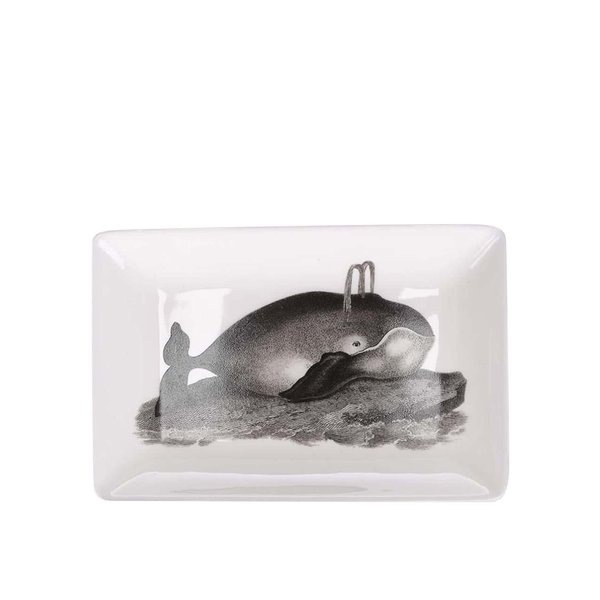 Farfurie pentru aperitiv Magpie Curios cu print – balenă