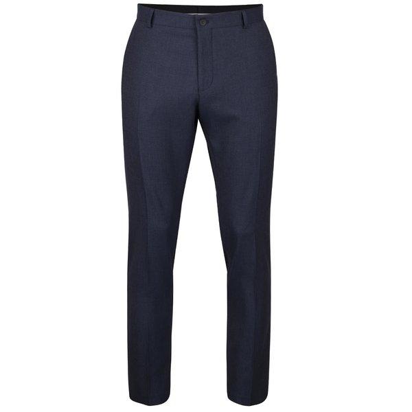 Pantaloni albastru închis Selected Homme Done cu model discret de la Selected Homme in categoria Blugi, pantaloni, pantaloni scurți