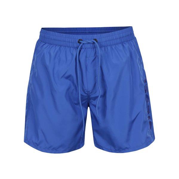 Pantaloni scurți albaștri pentru baie Diesel cu talie elastică