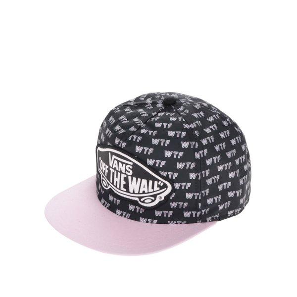 Șapcă roz&negru Vans Beach Girl cu text