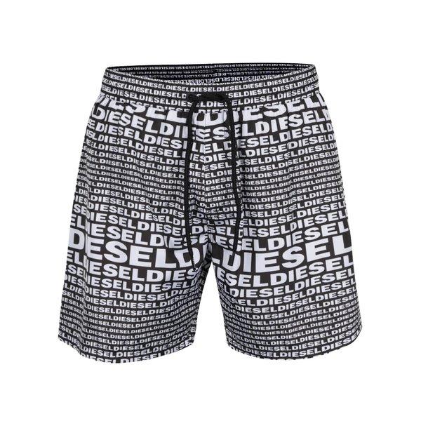 Pantaloni scurți de baie alb & negru Diesel cu imprimeu cu logo de la Diesel in categoria Lenjerie intimă, pijamale, șorturi de baie