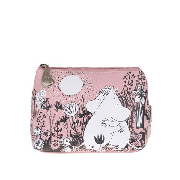Geantă roz pentru cosmetice Disaster cu imprimeu de la Disaster in categoria Genți, rucsacuri, portofele